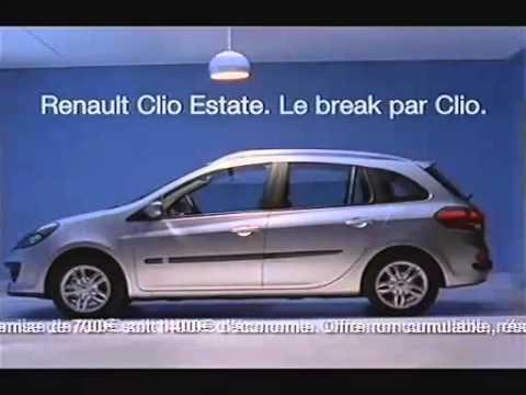 Renault Clio Estate Werbung 2008 Youtube