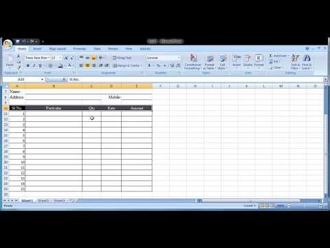 How to create a Tax Invoice Template Format in Excel