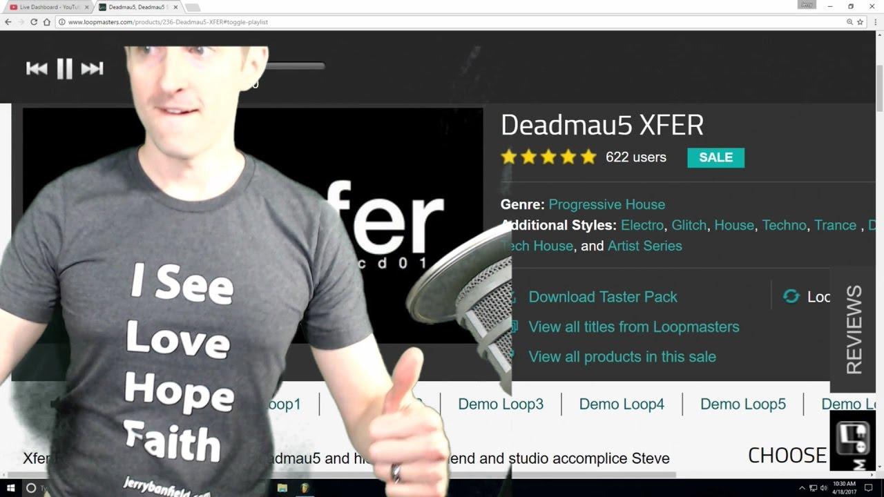 Deadmau5 Xfer Loopmasters Kick Dumb World Record Live! - YouTube