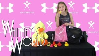 What's in my Gymnastics Bag | Press Conference | Whitney