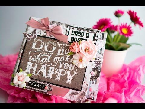 Tutorial Rose Quartz Wedding Mini Album (part I structure)
