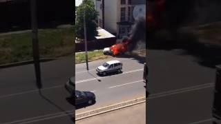 В Невинномысске сгорел автомобиль