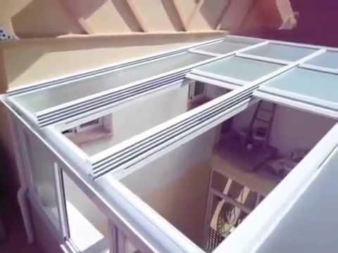 Grubat alcaide techo movil cristal youtube - Techos de madera para terrazas ...