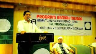 Ceramah Mohd Sabu Hotel Emas Tawau 2011 part 1