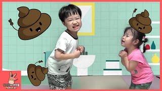 상어가족 똥마려워 똥 응가송 동물유치원 방귀 뿌웅 똥 나와라 체조송! 인기 동요 모음 TOP 4 ♡ Kids Song | 말이야와아이들 MariAndKids