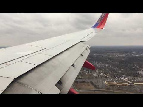[HD] Southwest Airlines Boeing 737 Landing in Flint Bishop International Airport KFNT
