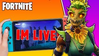 🔴 Best Fortnite Nintendo Switch Player // 800 Wins // Hay Man Skin // Fortnite Gameplay + Tips!!