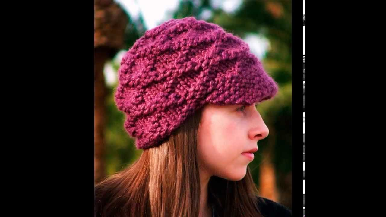 модные женские вязаные шапки зима 2015 Youtube