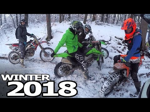 Motocross Vs Snow - Dirt Bikers, Crashes & Fails 2018
