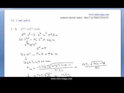 Mala škola matematike 2 , LOGARITAMSKE NEJEDNADŽBE - vježba br.5. from YouTube · Duration:  5 minutes 20 seconds