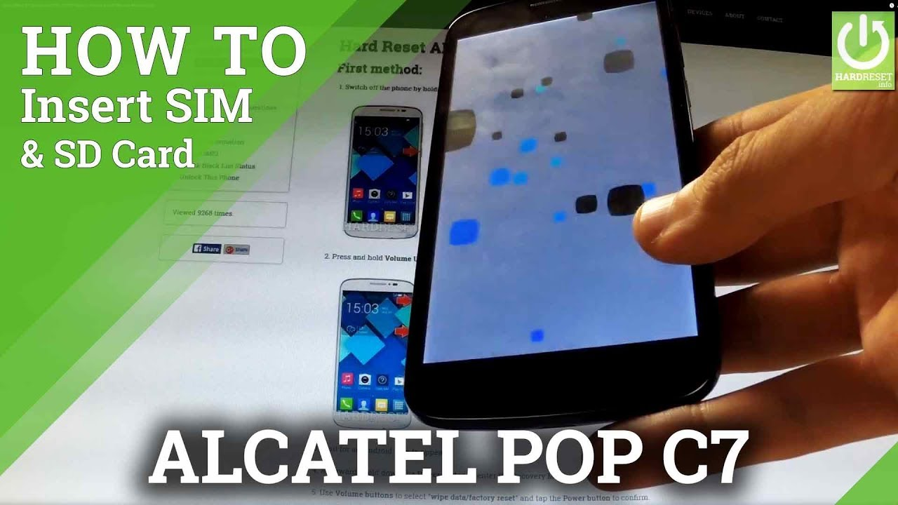 Insert SIM & SD Card in ALCATEL 7041D Pop C7 - How to