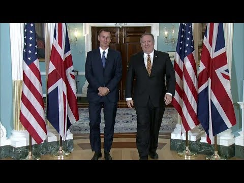 Welcoming UK Secretary of State for Foreign and Commonwealth Affairs Jeremy Hunt