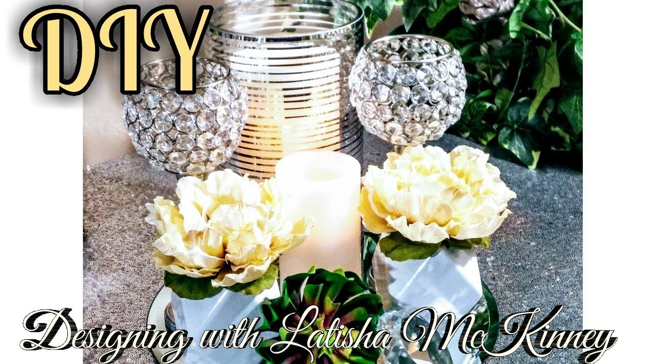 Diy Elegant Dollar Tree Centerpieces Easy Glam Home Decor Tips