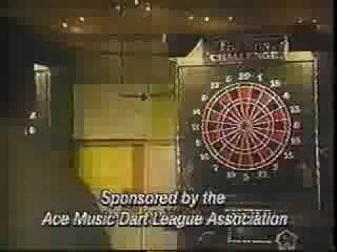 Ace Music Dart League,1993 Kokomo Indiana, Arachnid Dart Machine, TV Ad 1