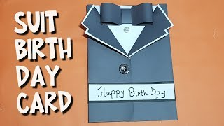 How to make Easy DIY  suit card, tuxedo  birthday card, friendship day card