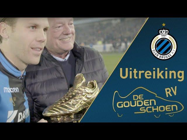 CLUB BRUGGE Gouden schoen Ruud Vormer   Uitreiking   2017-2018