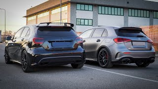 A45 S vs A45 / AMG DRAG RACE !