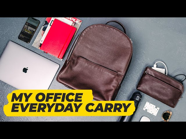 WHAT'S IN MY WORK BAG? (Updated)   Business Backpack + Everyday Carry • Effortless Gent