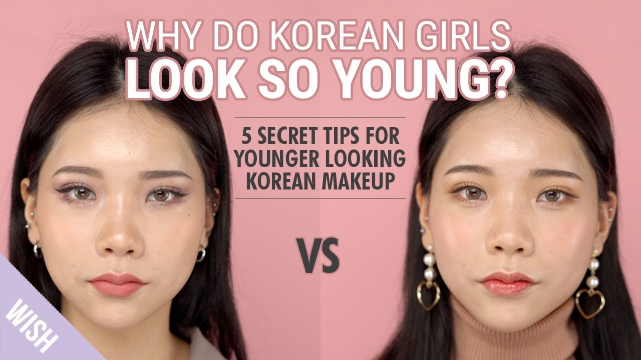 How to Look Younger with Korean Makeup  Korean Makeup VS American Makeup   Wishtrend TV