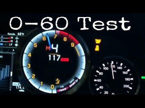 0-60 MPH Test In The Lexus GSF Is it faster then the claimed  4.5 Seconds
