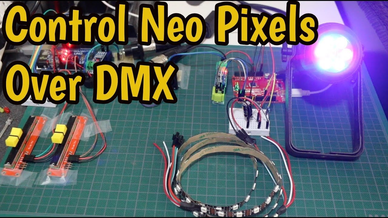 huge discount aa4ad 4db01 Arduino DMX Controller for a WS2812B LED Strip