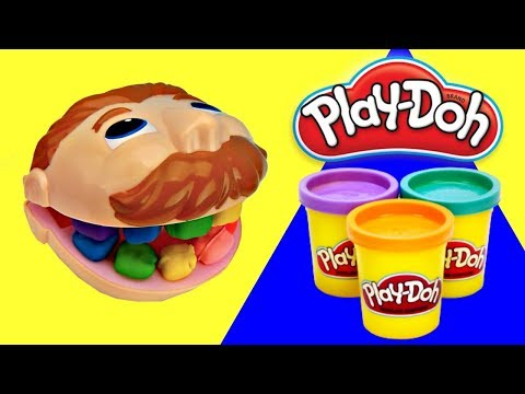 Play Doh Drill and Fill Dentist Learns Colors for Toddlers