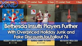 Bethesda Insults Players Further with Overpriced Holiday Junk and Fake Discounts for Fallout 76 thumbnail