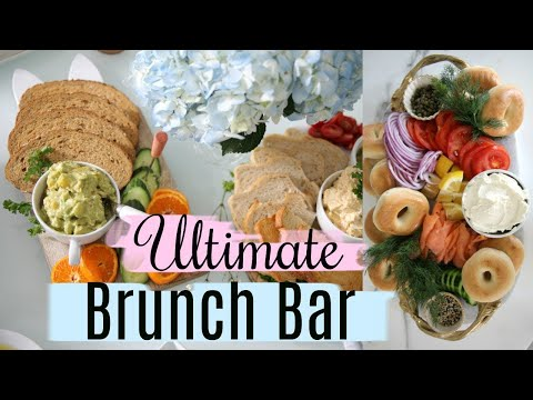 Brunch Ideas - Avocado Toast, Bagel And Lox, Egg Spread MissLizHeart