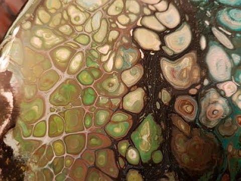 Fluid Art Pour swipe Rescue  ' Tree Folks '  Stuart Wimbles  Free Your Mind Art