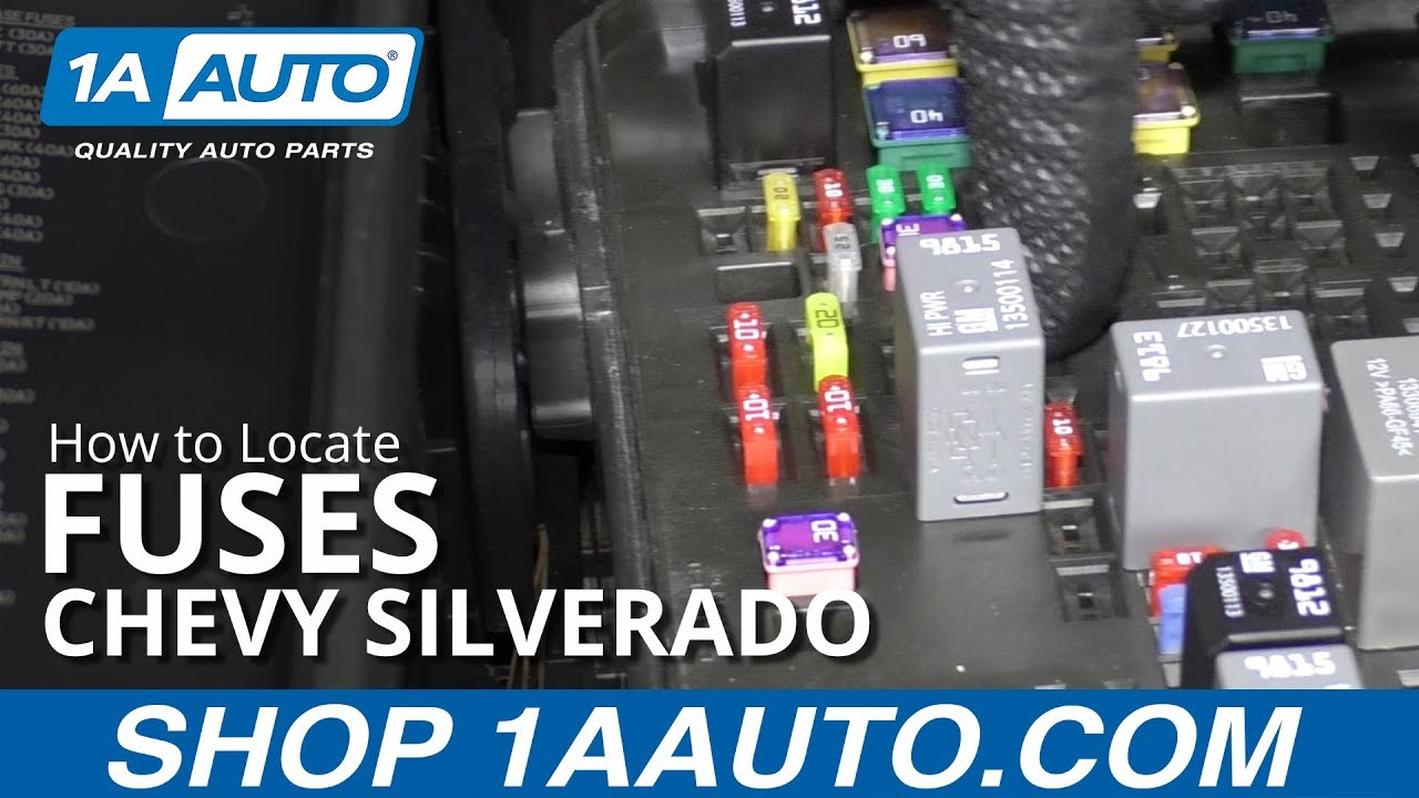 How to Locate Fuses 14-19 Chevy Silverado - YouTube | 2014 Silverado Fuse Box Plug |  | YouTube