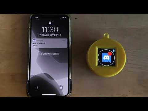 iOS Notification Gizmo with Circuit Playground Bluefruit @adafruit @johnedgarpark #adafruit