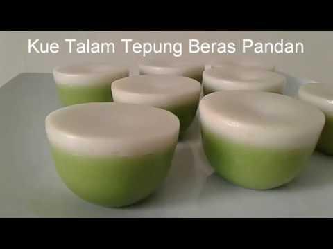 Resep Kue Talam Tepung Beras Pandan Lembut Manis Dan Gurih