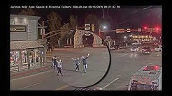 We made it on the Jackson Hole Town Square live webcam ~ Youtube famous!
