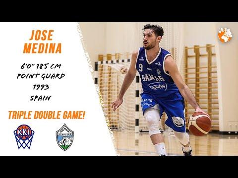 Jose Medina TRIPLE DOUBLE ‼️ 33 points 20 assists 10 rebounds Iceland D2 Hamar