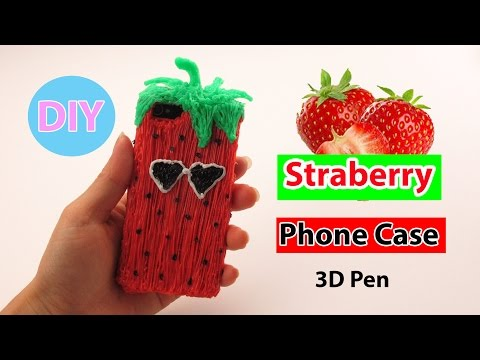 3d-pen-art:-how-to-make-strawberry-phone-case-diy-by-creative-world