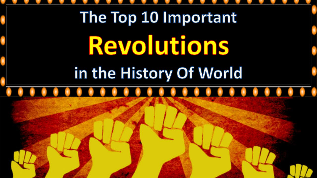 Major revolutionaries of the world