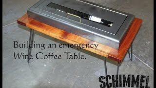 Emergency Wine Coffee Table From A Fire Extinguisher Cabinet.   Keep Calm And Wine On.