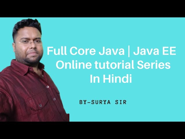 Core Java Online Training Session 81 | Java Tutorial in Hindi | Java Tutorial For Beginners