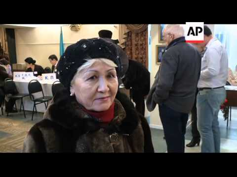 Voting has begun in elections in the oil-rich Central Asian nation