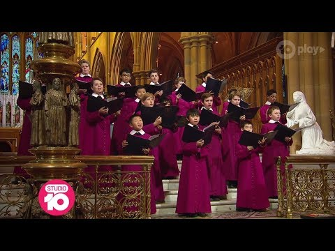 St Mary's Cathedral Choir Perform 'Hark The Herald Angels Sing' | Studio 10