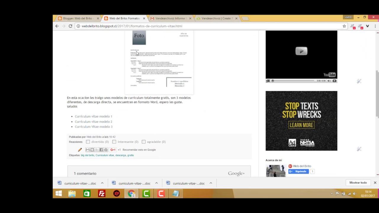 Descarga formatos Curriculum Vitae Gratis - YouTube