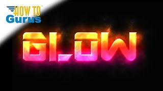 how to glowing text effect glow style text adobe photoshop elements 15 14 13 12 11 tutorial