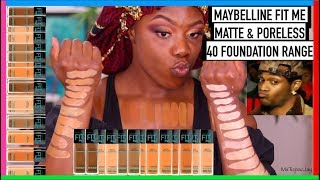 FINDING MY 'PERFECT' SHADE IN THE MAYBELLINE FIT ME FOUNDATION RANGE | MsTopacJay