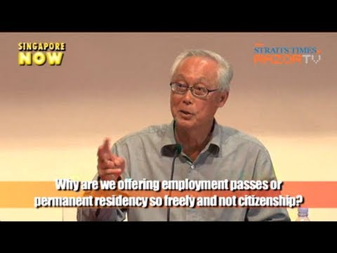 Employment pass & PR vs Citizenship (Dialogue session with SM Goh Pt 7)