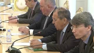 С.Лавров и Д.Кове, Москва, 1 апреля 2019 года