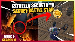 Find the SECRET BATTLE STAR on the loading screen No. 9 SEASON 8 FORTNITE