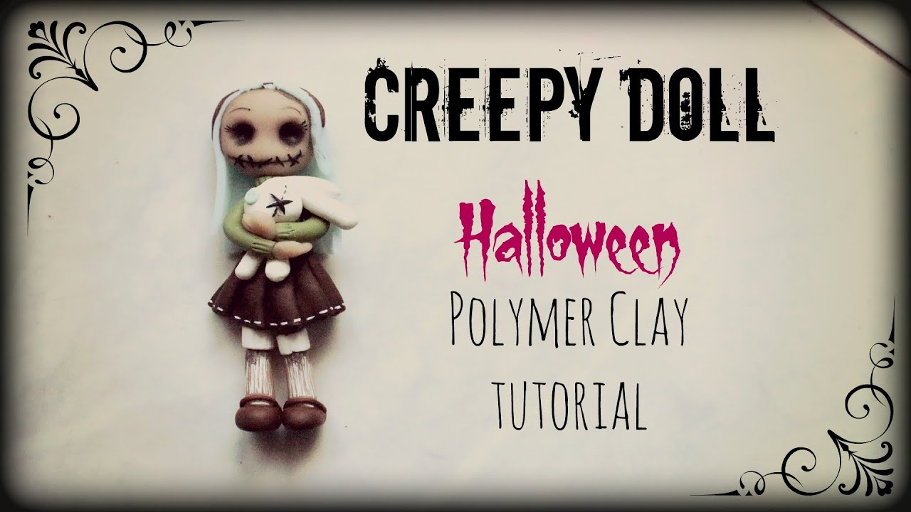 Creepy doll halloween polymer clay tutorial youtube baditri Images