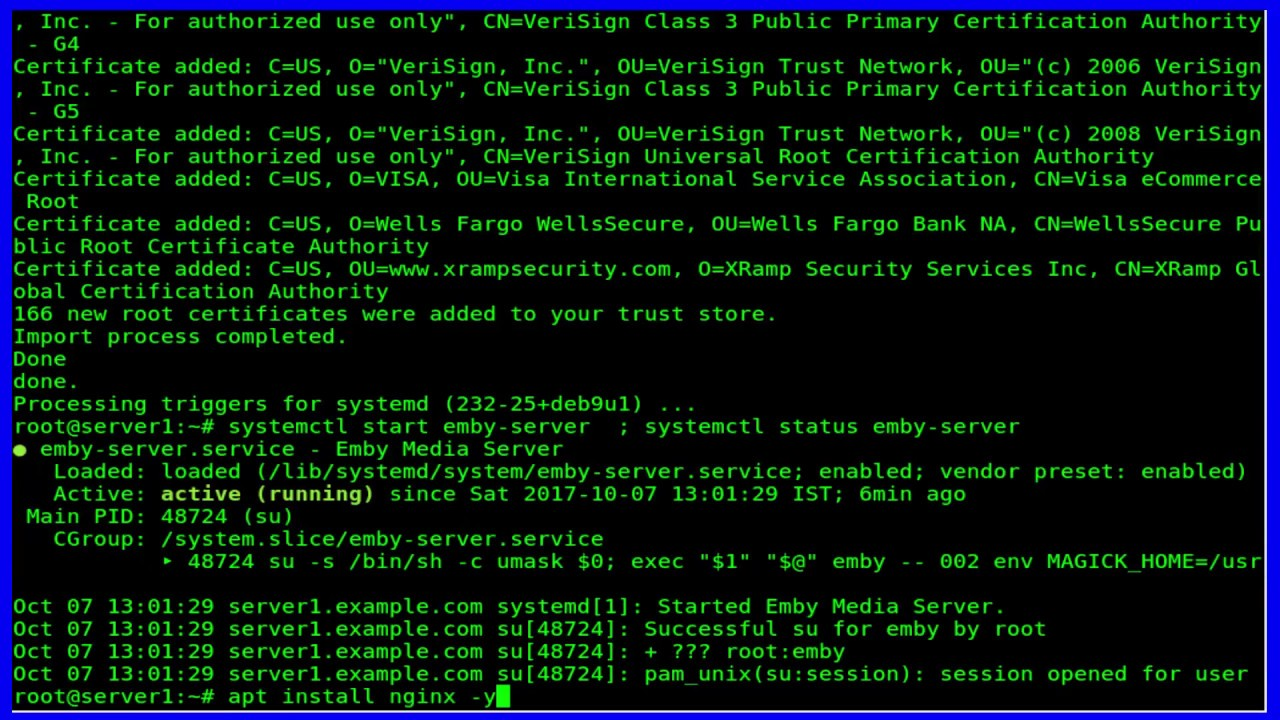 How To Install Emby Media Server on Debian 9 1 Stretch