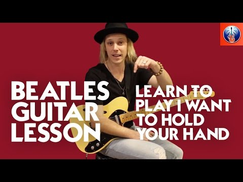 How to Play I Want to Hold Your Hand on Guitar - Beatles Song Lesson ...