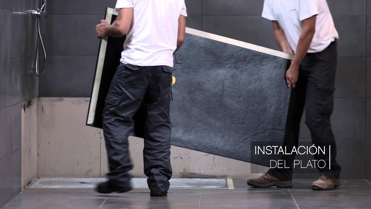 Es ba os 10 plato de ducha solidstone sobre pavimento - Platos de ducha diseno ...